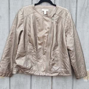 Womans size xl gold shimmery jacket.